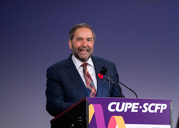 Tom Mulcair, leader of the New Democratic Party of Canada