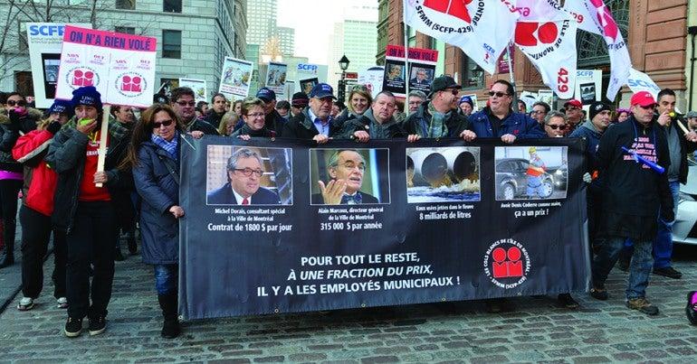 Solidarité sur la ligne de piquetage - Grèves et lock-outs survenus en 2015 au SCFP