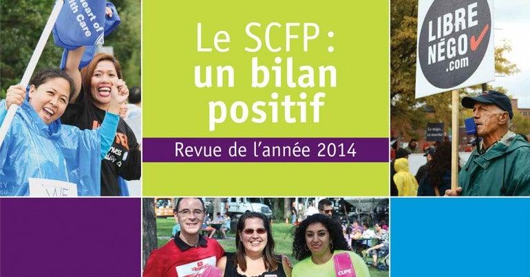 Le SCFP : un bilan positif - revue de l'année 2014