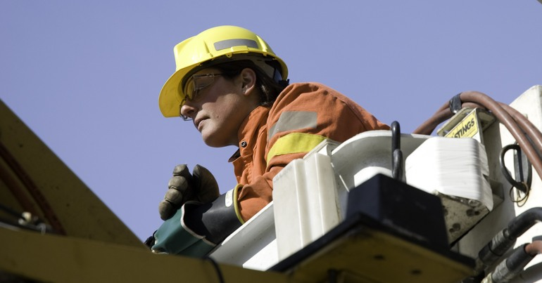 Energy sector hydro worker