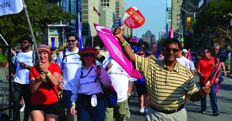 S'exprimer haut et fort pour un canada meilleur - Action politique : faits saillants du SCFP en 2015