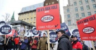 La contestation juridique de la Loi 15 par le SCFP et les syndicats de la Coalition