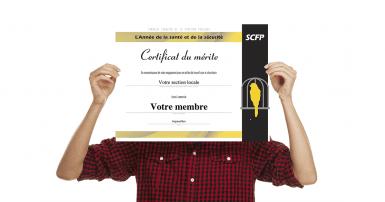 Soulignez le travail de vos militants en santé-sécurité au travail en leur remettant ce certificat