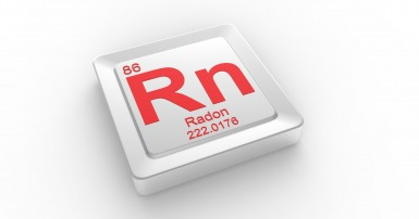 Red text on white back says 86 - Rn - Radon - 222.0176