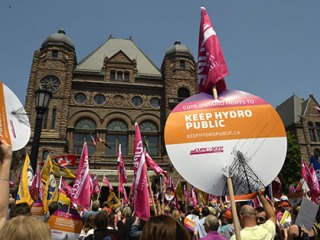 CUPE Ontario rally t keep Hydro One public