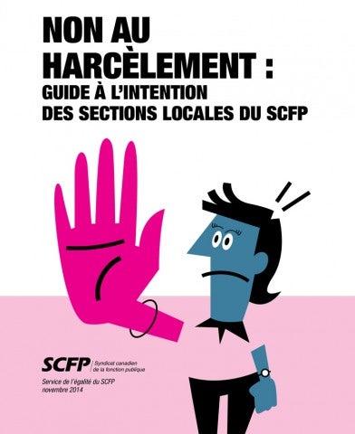 Non au harcèlement: Guide à l'intention des sections locales du SCFP
