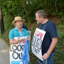 Mark Hancock on CUPE 1816 picket line
