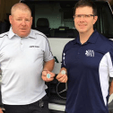 Commemorative coin; Jason Woodbury, President of CUPE 3324 and Ryan O'Meara, President of PAPEI.